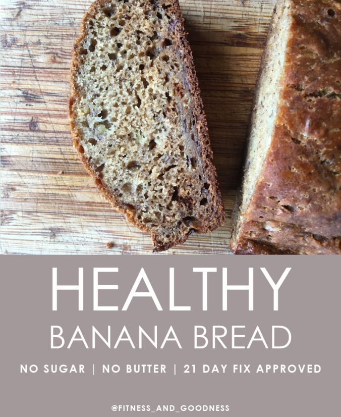 Healthy Banana Bread that's 21 day fix approved. No sugar. No butter.